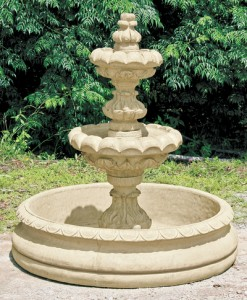 2 Tier Ribbed Basin Fountain