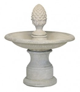 "34"" Plain Round/15"" Pineapple Fountain"
