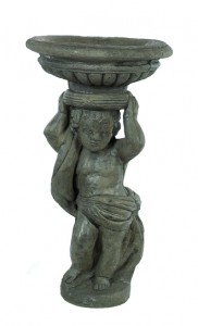 Cherub with Deep Bowl on Head