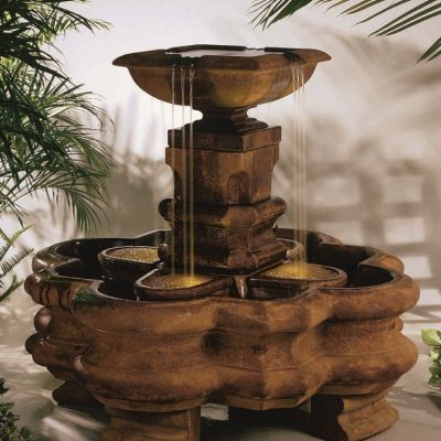 Classic Planter Pillar Fountain