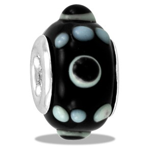 DaVinci Art Glass Black Knob