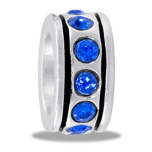 DaVinci CZ Beads Small CZ Wheel Blue