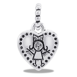 DaVinci Family Dangle Girl Heart