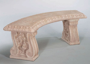Grapeleaf Curved Bench, 3 pc.