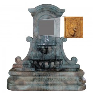LaMura Lion Flat Wall Fountain