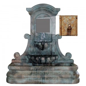 LaMura Rosette Flat Wall Fountain
