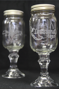 Large Cajun Wine Glass
