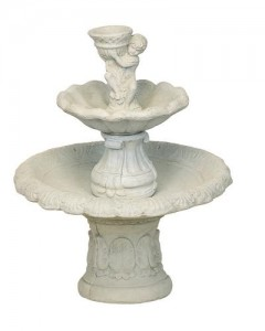 Medium Round Fountain/Boy Holding Bowl