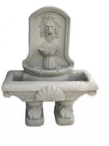 Neptune Rectangle Shell Wall Fountain