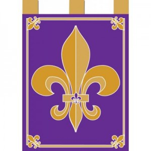 Purple & Gold FDL - Applique Flag