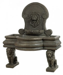 Rectangle Dome Lion Top Fountain