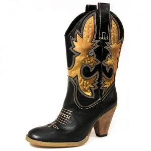 Volatile Brero Boot - Black & Gold