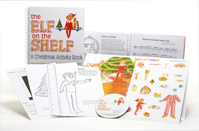 Elf on the Shelf Christmas Activity Book w/ CD
