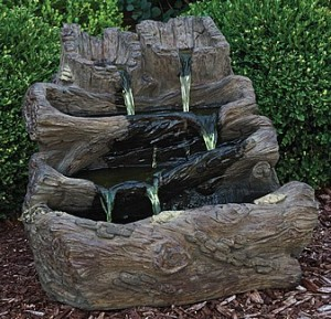 Log Spill Fountain
